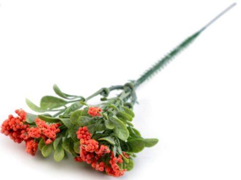 Művirág, műnövény CSOKOR apró levelekkel, bogyókkal (19 cm), LAZAC színű