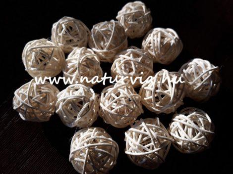 vessző gömb, vesszőgömb / labda (3 cm), KRÉM (5 db / csomag)