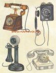 decoupage (dekupázs) papír, soft, 24*30 cm régi telefonok 01