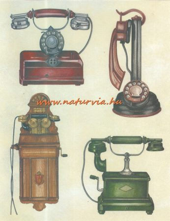 decoupage (dekupázs) papír, soft, 24*30 cm régi telefonok 02