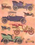decoupage (dekupázs) papír, soft, 24*30 cm régi autók 01
