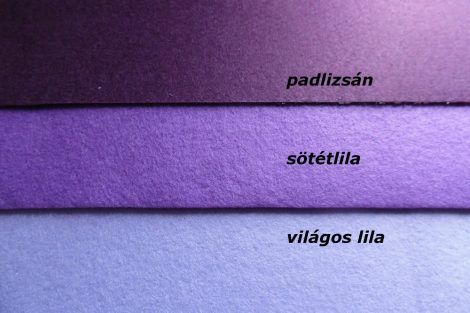 Filc, barkácsfilc anyag A4 (20*30 cm) méretben VILÁGOS LILA