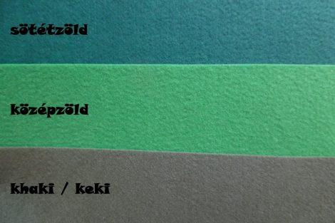 Filc, barkácsfilc anyag A4 (20*30 cm) méretben KÖZÉPZÖLD / FŰZÖLD