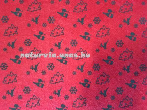 Filc, barkácsfilc anyag A4 (20*30 cm) méretben, mintás KARÁCSONYI (XMAS)