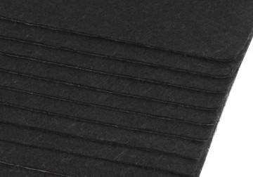 Filc, barkácsfilc anyag A4 (20*30 cm) méretben, FEKETE (ÖNTAPADÓS)