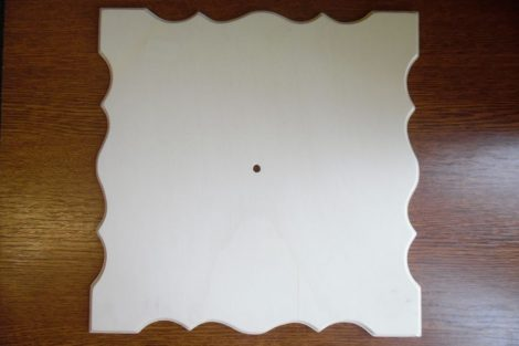 Fa óralap, NÉGYZET alakú 33,5*33,5 cm