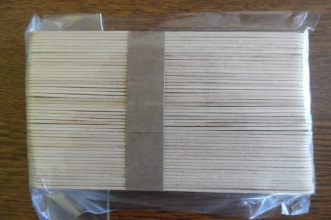 Fa pálcika, spatula, NATÚR (49 db / csomag) 150*18 mm NAGY