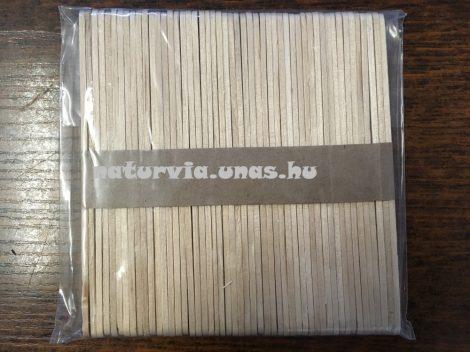 Fa pálcika, spatula, natúr (50 db / csomag) 114*10 mm KÖZEPES
