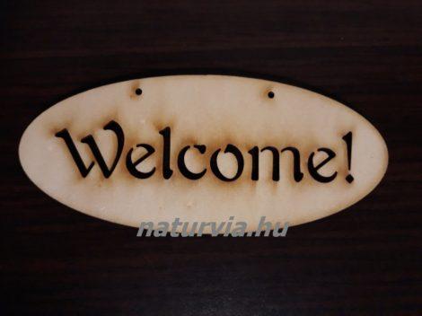 """Fa tábla """"WELCOME"""" (ovális) 14*6 cm"""