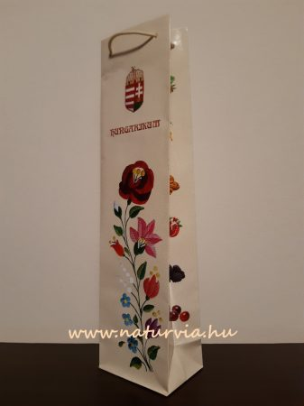 italtasak, ital csomagoló tasak - népi motívummal, HUNGARIKUM felirattal, KRÉM / NATÚR színű