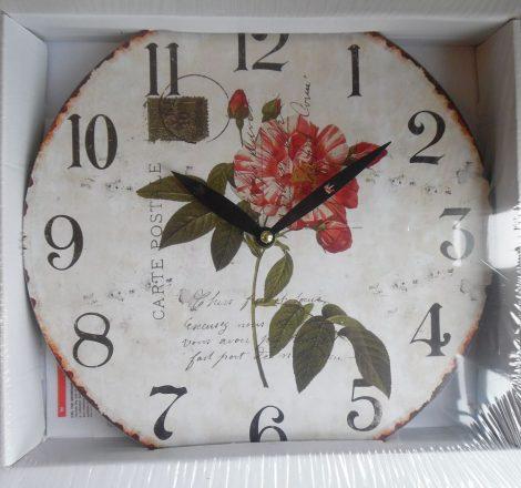 Falióra, óra, virágos 28 cm