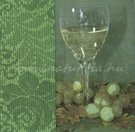 Szalvéta GYÜMÖLCS, SZŐLŐ 04, szőlő és bor