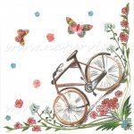 Szalvéta, JÁRMŰ, bicikli / kerékpár pillangókkal