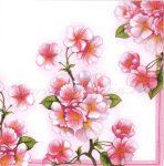 Szalvéta rózsaszín VIRÁG, CSERESZNYEVIRÁG