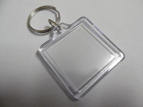 műanyag, szerelt kulcstartó alap, fényképtartós NÉGYZET alakú