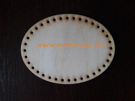 kosár, tároló vagy táska alap fából (lézervágott, rétegelt lemez), OVÁLIS (16*12 cm), KÖZEPES