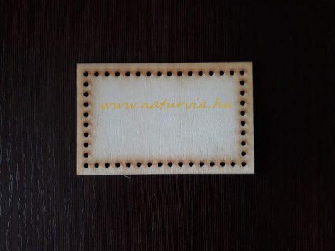 kosár, tároló vagy táska alap fából (lézervágott, rétegelt lemez), TÉGLALAP (11*7 cm), KICSI