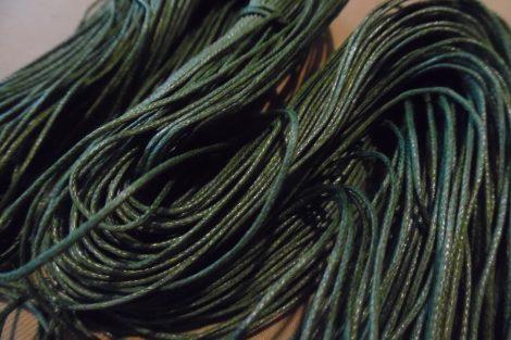 viaszolt szál, viaszos zsinór, kordszál (1 mm vastag) SÖTÉT ZÖLD (5 m)