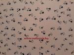 Dekorgumi, sima  FEKETE MACSKA MINTÁS 20*30 cm (A4), halvány rózsaszín alapon