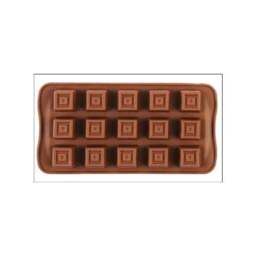 Szilikon bonbon forma - kocka alakú bonbon készítéséhez (15 db-os)