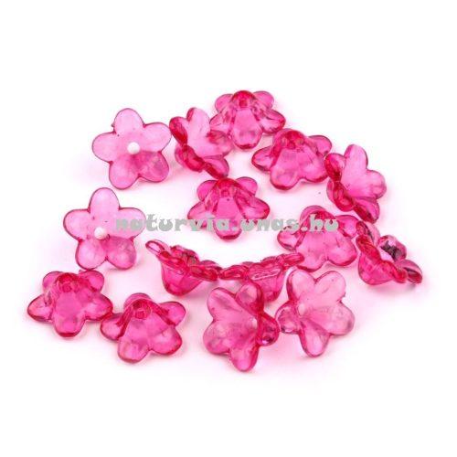 Harang alakú virág, akril harangvirág gyöngy (12 mm), CIKLÁMEN (10 db/csomag)