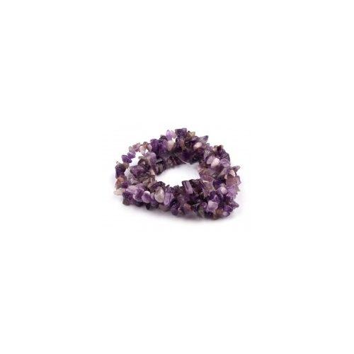 AMETISZT splitter damil szálon, ásványszál (~85 cm)