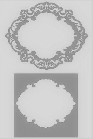 Stencil (Stamperia A), 15 * 15 cm, rectangular frame