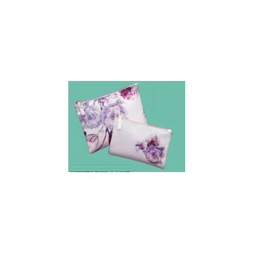 Neszeszer, kozmetikai táska szett (2 db-os), virágos