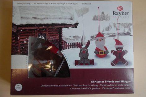 Barkácscsomag: Barátok karácsonykor (rénszarvas, télapó, mézi) 3 db-os készlet