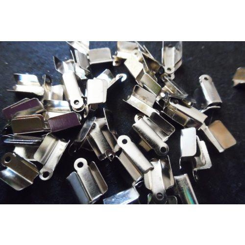 bőrvég, zsinór vég, U-ALAKÚ sima (4 mm * 11 mm), FÉM / FEKETE színű (10 db / csomag)