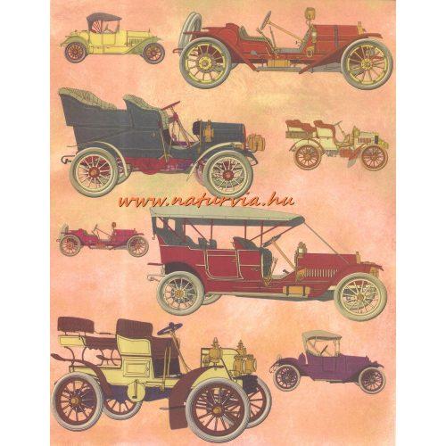 decoupage (dekupázs) papír, soft, 24*30 cm régi autók 02