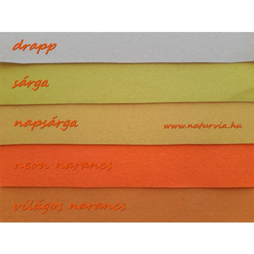 Filc, barkácsfilc anyag A4 (20*30 cm) méretben DRAPP