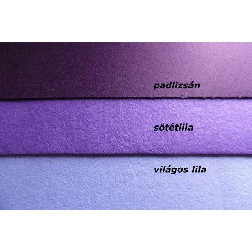 Filc, barkácsfilc anyag A4 (20*30 cm) méretben SÖTÉTLILA