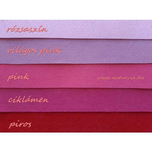 Filc, barkácsfilc anyag A4 (20*30 cm) méretben VILÁGOS PINK