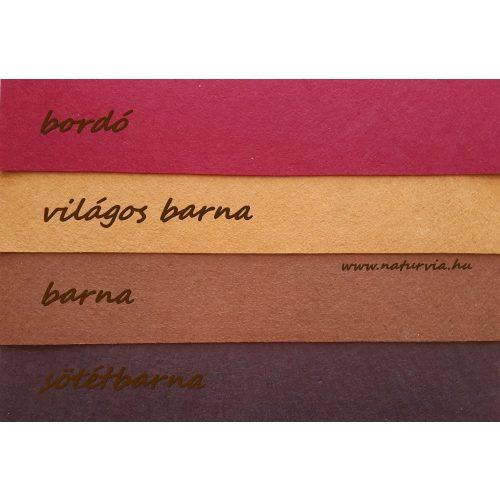 Filc, barkácsfilc anyag A4 (20*30 cm) méretben VILÁGOS BARNA