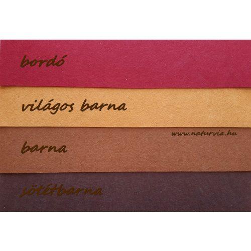 Filc, barkácsfilc anyag A4 (20*30 cm) méretben BORDÓ