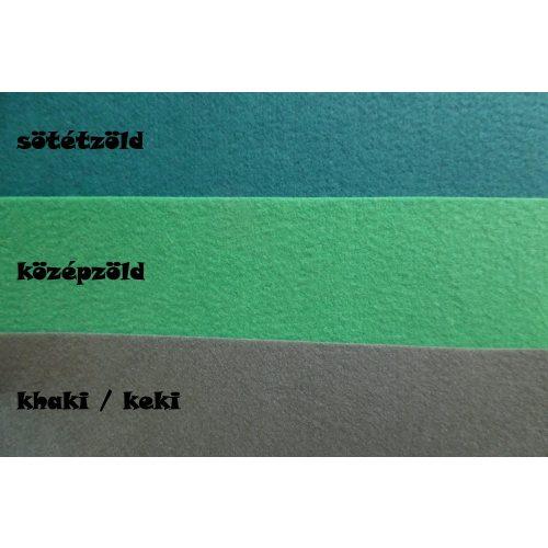 Filc, barkácsfilc anyag A4 (20*30 cm) méretben SÖTÉT ZÖLD