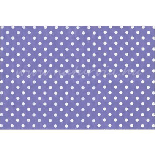 Filc, barkácsfilc anyag A4 (20*30 cm) méretben, mintás FEHÉR PÖTTYÖS (PETTYES) LILA ALAPON