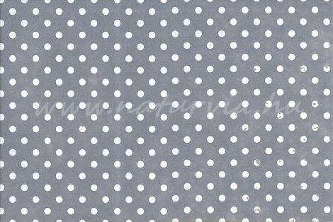 Filc, barkácsfilc anyag A4 (20*30 cm) méretben, mintás FEHÉR PÖTTYÖS (PETTYES) SZÜRKE ALAPON
