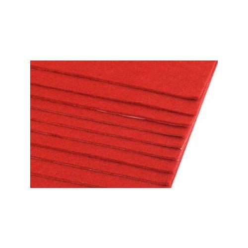 Filc, barkácsfilc anyag A4 (20*30 cm) méretben, PIROS (ÖNTAPADÓS)