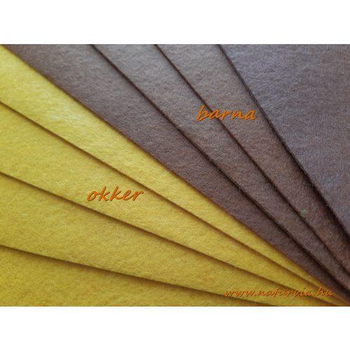 Filc, barkácsfilc anyag A4 (20*30 cm) méretben, OKKERSÁRGA / BARNÁS SÁRGA (ÖNTAPADÓS)