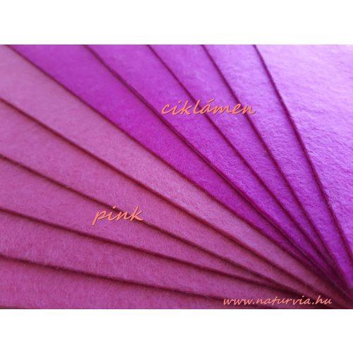 Filc, barkácsfilc anyag A4 (20*30 cm) méretben, PINK (ÖNTAPADÓS)