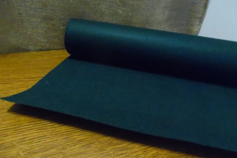 Filc, barkácsfilc anyag méterre (1mm vastag) SÖTÉT ZÖLD