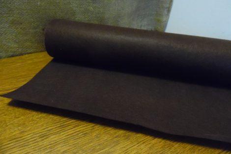 Filc, barkácsfilc anyag méterre (1mm vastag) SÖTÉT BARNA