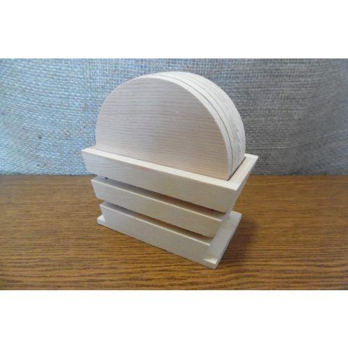 Fa poháralátét, pohár alátét készlet, KEREK 10 cm