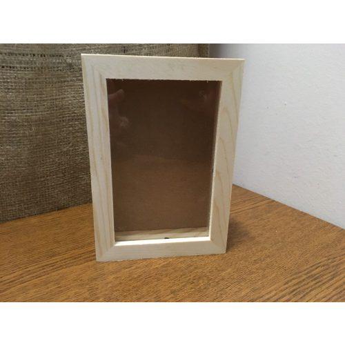 Fa képkeret, fénykép tartó, 3D (10*15 cm-es fényképhez)