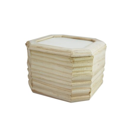 Fa doboz, szögletes, fedeles (13*13*9 cm)