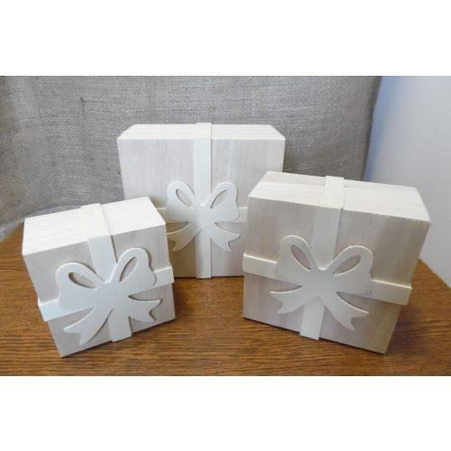 Fa masnis doboz szett / készlet (3 db-os)