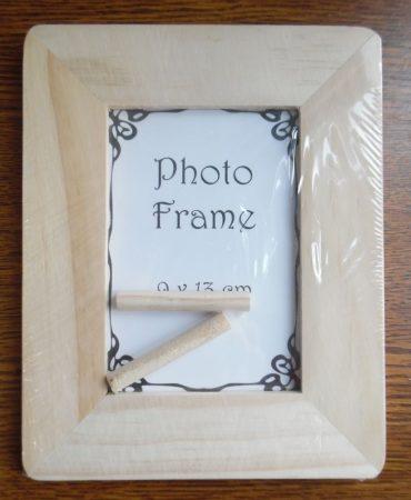 Fa képkeret, fénykép tartó, lekerekített (9*13 cm-es fényképhez)