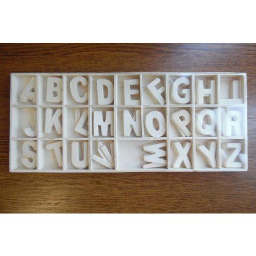 Fa betűk A-Z, natúr (30 mm)